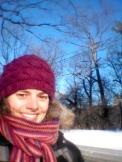Brrrr! Frozen hair!
